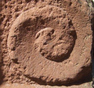 Spirale Sandstein