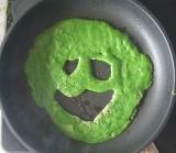 Bärlauchpfannkuchen Gesicht