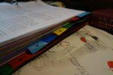 Arbeitsbogen und Studienblätter