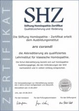 SHZ akkreditierte Homöopathie-Ausbildung